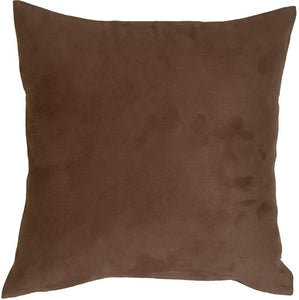 15x15 Royal Suede Brown Throw Pillow