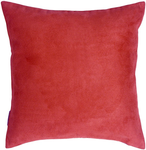 19x19 Royal Suede Red Throw Pillow