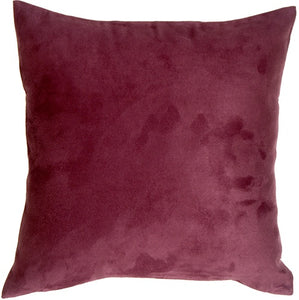 19x19 Royal Suede Wine Throw Pillow