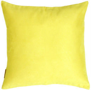 19x19 Royal Suede Lemon Yellow Throw Pillow