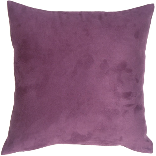 18x18 Royal Suede Deep Purple Throw Pillow