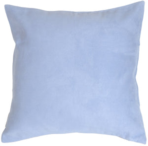 19x19 Royal Suede Pale Blue Throw Pillow