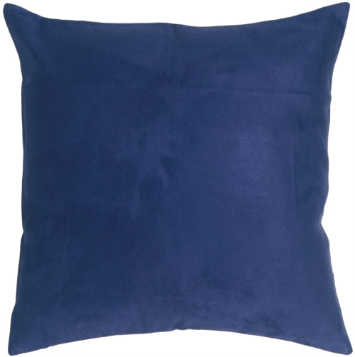 19x19 Royal Suede Navy Blue Throw Pillow