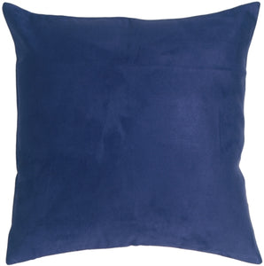 18x18 Royal Suede Navy Blue Throw Pillow