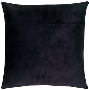 19x19 Royal Suede Midnight Blue Throw Pillow