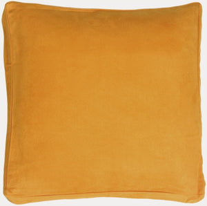 "16""x16"" Box Edge Royal Suede Toffee Throw Pillow"