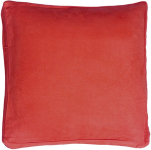 16x16 Box Edge Royal Suede Red Throw Pillow
