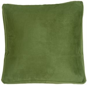 "24""x24"" Box Edge Royal Suede Forest Green Floor Pillow"