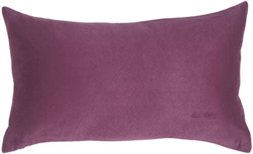 12x20 Royal Suede Deep Purple Throw Pillow