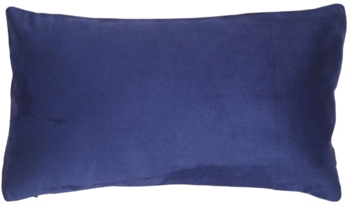 12x20 Royal Suede Navy Blue Throw Pillow