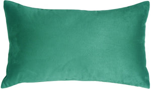 12x20 Royal Suede Turquoise Throw Pillow