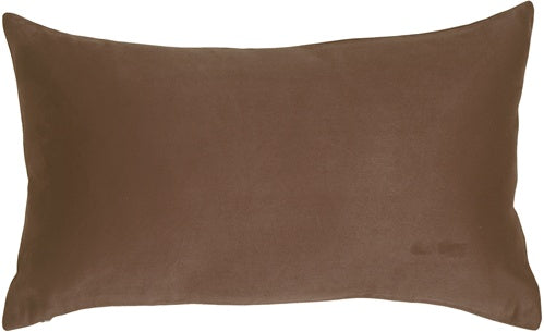 12x20 Royal Suede Brown Throw Pillow