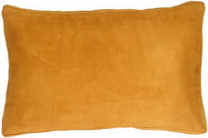 "14""x22"" Box Edge Royal Suede Toffee Throw Pillow"