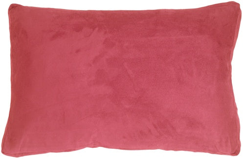 14x22 Box Edge Royal Suede Pink Throw Pillow