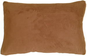 14x22 Box Edge Royal Suede Camel Throw Pillow