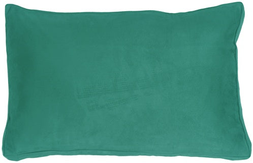 14x22 Box Edge Royal Suede Turquoise Throw Pillow