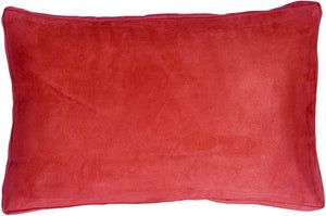 14x22 Box Edge Royal Suede Red Throw Pillow