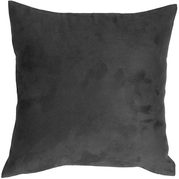 18x18 Royal Suede Black Throw Pillow