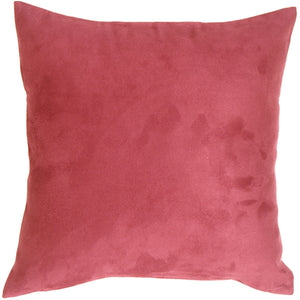 18x18 Royal Suede Pink Throw Pillow