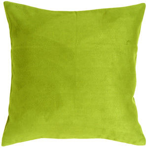 18x18 Royal Suede Lime Green Throw Pillow