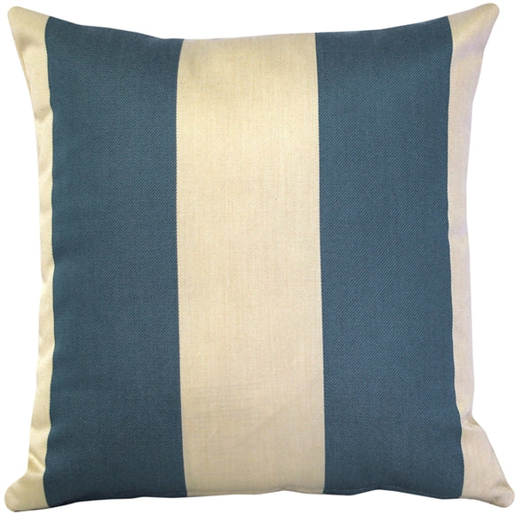Bistro Marine Blue Outdoor Pillow 17x17