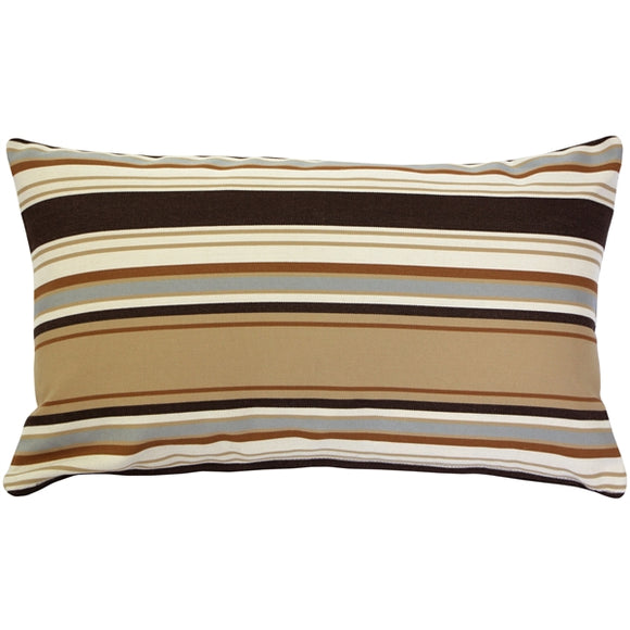 Outdura Tradewinds Driftwood Throw Pillow 12x20