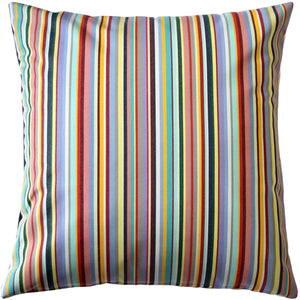 Celebration Multi-Stripe Outdoor Pillow 17x17