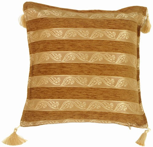 Ribbon Stripes Umber Pillow