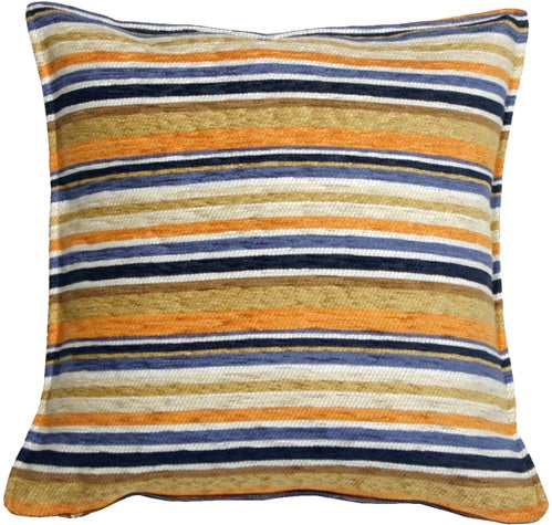 Carnival Stripes Orange 17x17 Throw Pillow