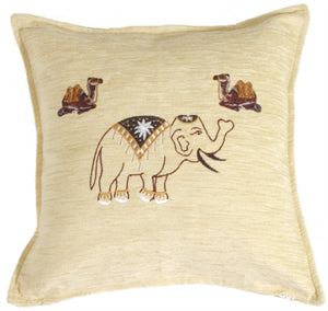 Indian Elephant and Camels Pillow