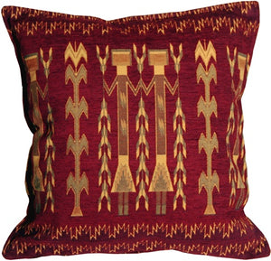 Santa Fe Wheat Red 17x17 Throw Pillow