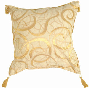 Golden Swirls Pillow