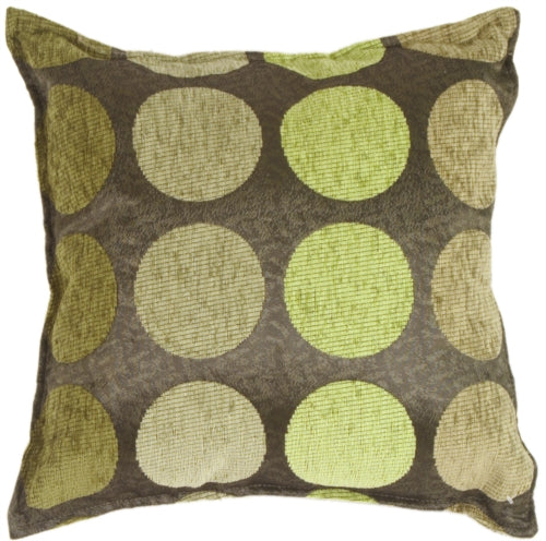 Multicolor Spheres Green Pillow