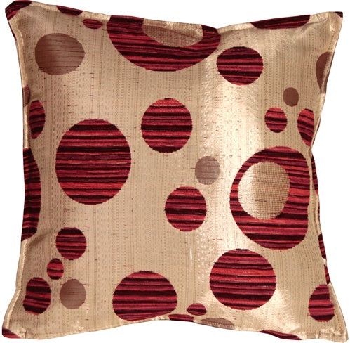 Fuchsia Bubbles 17x17 Throw Pillow