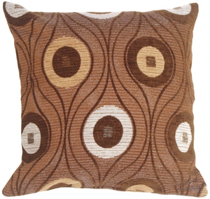 Pods in Chocolate Throw Pillow