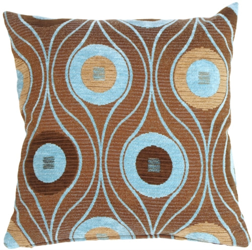 Pods in Turquoise Throw Pillow
