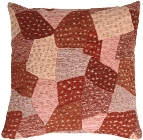 Patches of Stars in Purples Accent Pillow