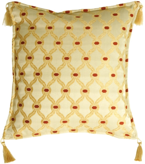 Trellis in Soft Gold Accent Pillow