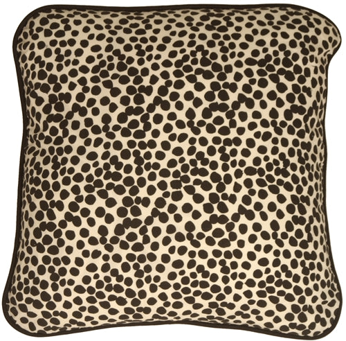 Deer Print Cotton Large Throw Pillow
