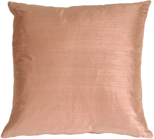 "Dupioni Silk 17"" Mauve Berry Throw Pillow"