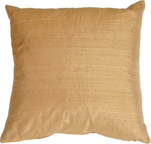 "Dupioni Silk 17"" Golden Peach Throw Pillow"