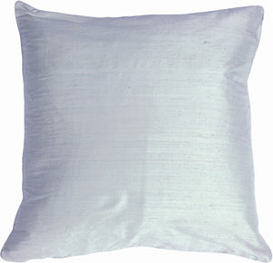 "Dupioni Silk 22"" Powder Blue Throw Pillow"