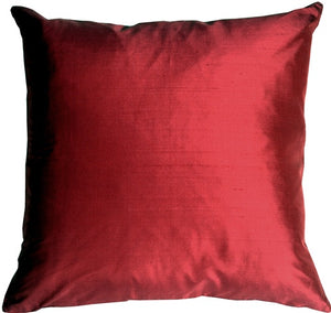 Smooth Silk Red 22x22 Throw Pillow
