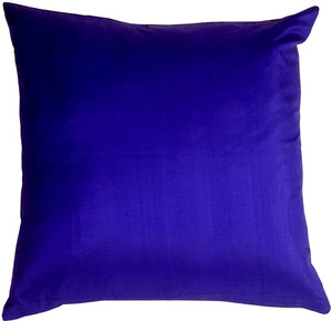 Smooth Silk Electric Blue 17x17 Throw Pillow