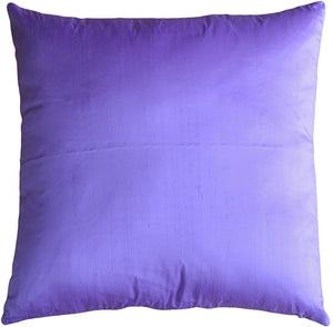 Smooth Silk Violet 17x17 Throw Pillow