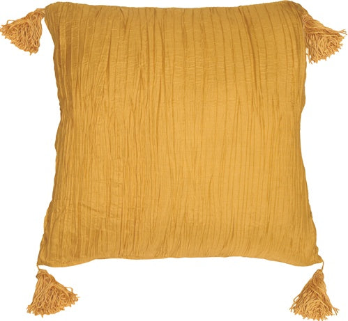 Crinkle Silk in Gold Throw Pillow