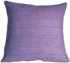 Tussar Silk Purple 17X17 Throw Pillow