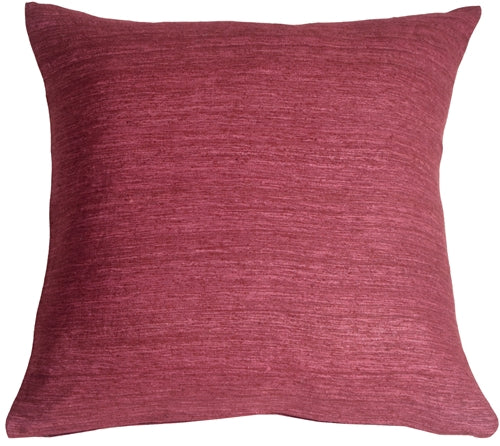 Tussar Silk Wine 22x22 Throw Pillow