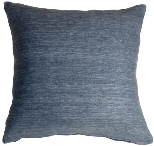 Tussar Silk Dark Teal 22x22 Throw Pillow