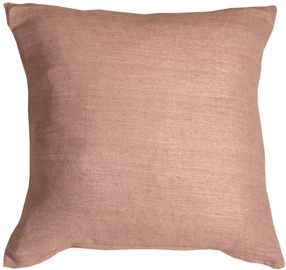 Tussar Silk Dusty Pink 17X17 Throw Pillow